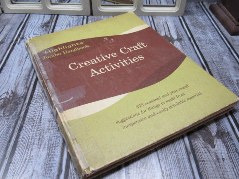 Highlights Book Creative Craft Activities Book Vintage Etsy