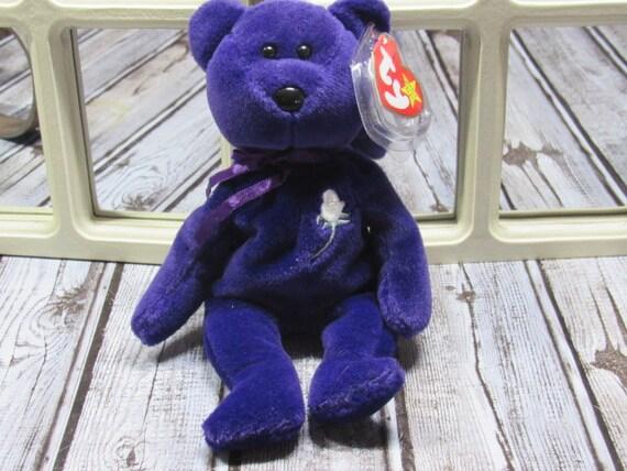 8ec731f1cd9 Princess Ty Bear Vintage Ty Beanie Baby Princess Diana Bear