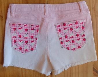 c4dcd300a Hello Kitty Denim Jean Shorts