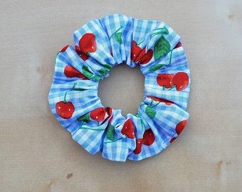 Cherry Hair Scrunchie / Cherry Chouchou / Elastic Hair Ties