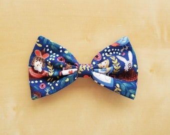 Classic Hair Bows for Teens and Women, Alice in Wonderland Hair Bow Clip, Alice in Wonderland Hair Clip, Alice Hair Bow, Queen of Hearts