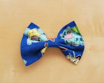 Classic Hair Bows for Teens and Women, Pokemon Hair Bow, Pokemon Hair Clip