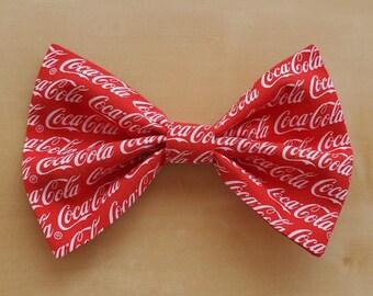 Classic Hair Bows for Teens and Women, Coca Cola Hair Bow, Coca Cola Hair Clip