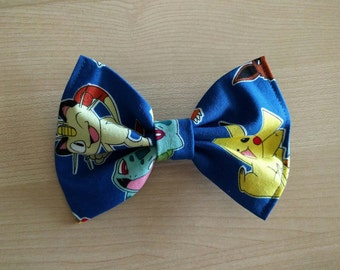 Vintage Inspired Hair Bows for Teens and Women, Pokemon Hair Bow Clip