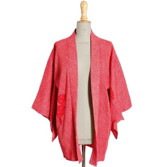 A Red Silk Kimono Jacket