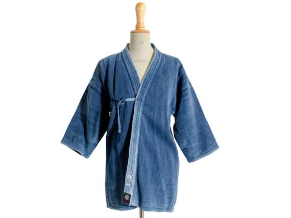 A vintage indigo dyed Japanese kendo jacket / vint