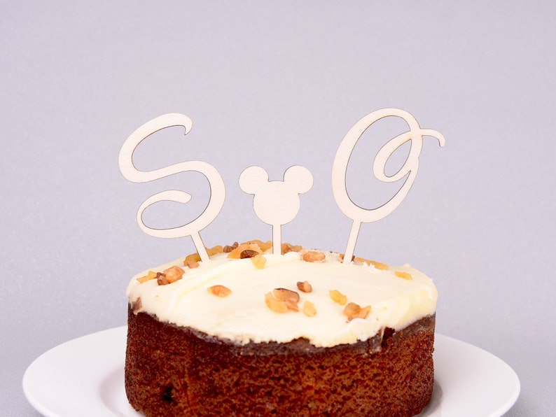 Outstanding Disney Letter Cupcake Toppers Personalised Wooden Cake Etsy Funny Birthday Cards Online Inifodamsfinfo