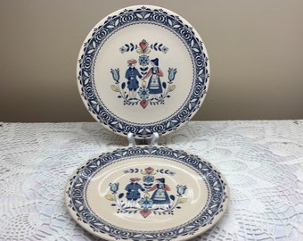 Johnson Brothers Hearts and Flowers Dinner Plates x2, Hearts and Flowers Johnson Brothers Plates