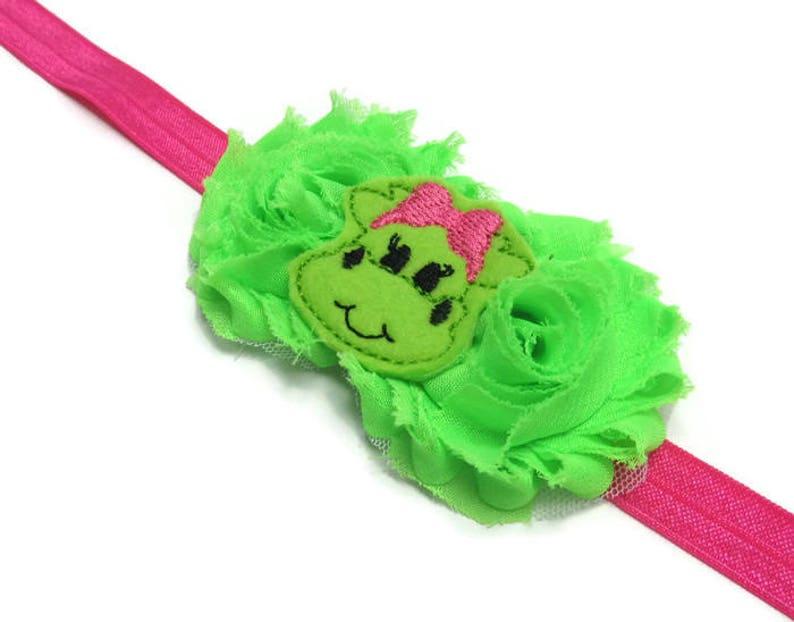 Dragon Headband Girly Dragon Headband Party Bow Pink Green Headband Birthday Gift Baby Gift Cake Smash Headband