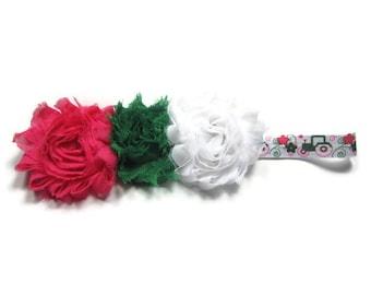 Tractor Headband, Farm Headband, John Deere Tractor Headband, Pink John Deere