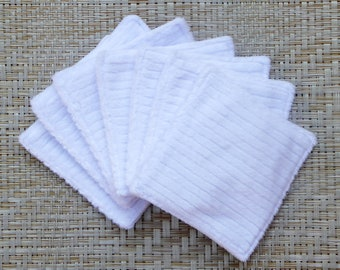 """Reusable 4"""" Square Face Pads (7) in place of disposable Cotton, Washable Eco-friendly Makeup Remover Wipes Skin Care"""