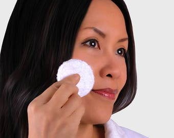 """Reusable 2-3/8"""" Round Face Pads (7) Makeup Removal Eco Friendly Zero Waste Wipes Skin Care gift great Travel Accessory"""