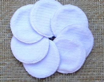 """Reusable 3-3/4"""" Round Face Pads (7 Pads) for Makeup Removal Pads, Eco Friendly Wipes for Skin Care Student Gift"""