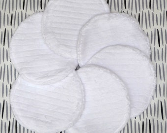 """Reusable Face Pads, 3-3/4"""" Makeup Remover Pads, Eco Friendly Skin Care, Facial Rounds, College Student Gift for her, Cotton Rounds, 7 Pads"""
