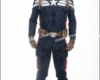 Captain America The Winter Soldier Steve Rogers Custom Made Cosplay Costume 037c9d7e2bd6