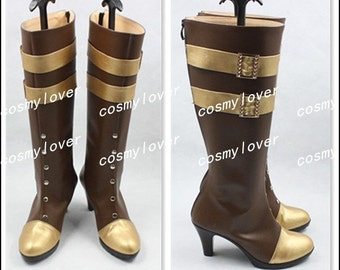 LOL League of Legends Caitlyn Custom Made Cosplay Boots/Shoes