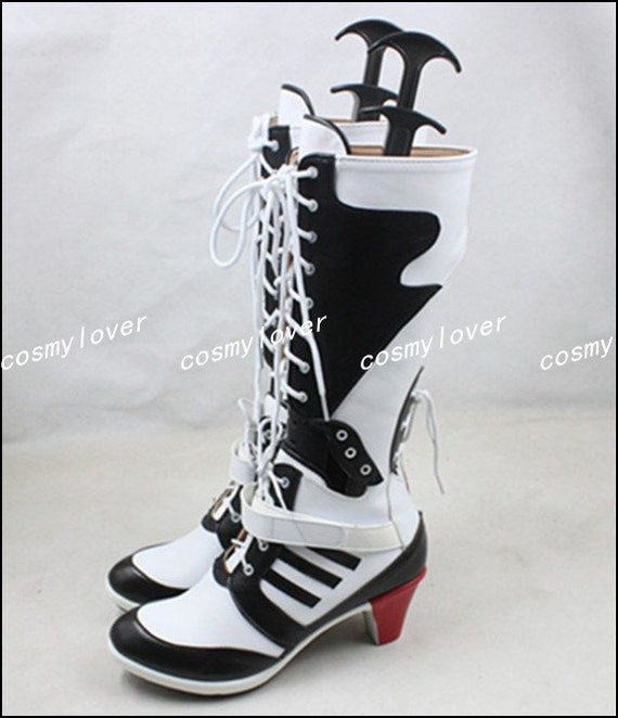 Squad bottes Suicide Cosplay Made chaussures Harley Quinn Custom PYYdwqZ
