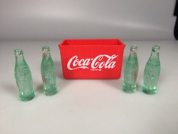 Set of 12 Dollhouse Miniature Mini Coca Cola With 1 Cola Base Model Decor Toys
