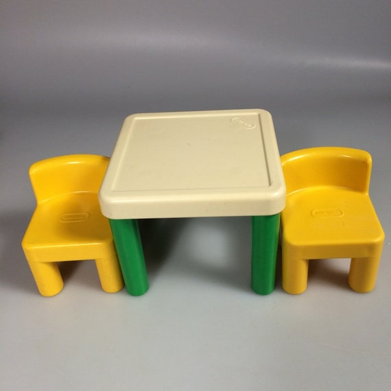 Little Tikes Dollhouse Table And Chairs Toy Furniture Vintage Etsy