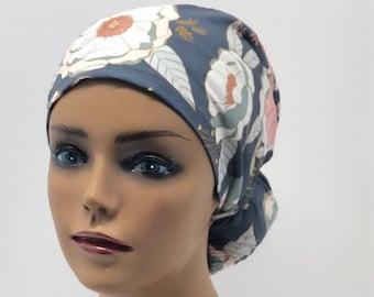 Women Scrub caps100/%cotton,made in USA,Medical cap,Surgical cap,Chemo cap,Doctor cap,Nurse cap,Vet cap,adjustable back elastic and tie,