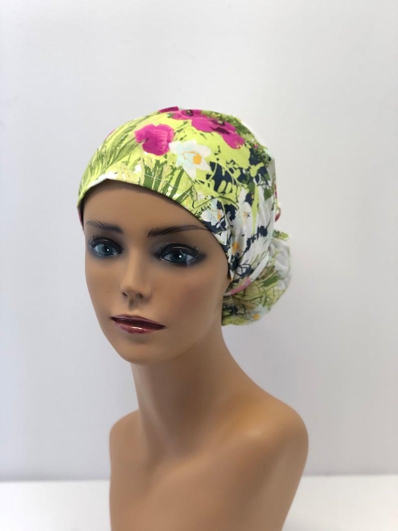 Women Scrub caps100/%cotton,made in USA,Medical cap,Surgical cap,Doctor cap,Nurse cap,Vet cap,adjustable back elastic and tie,