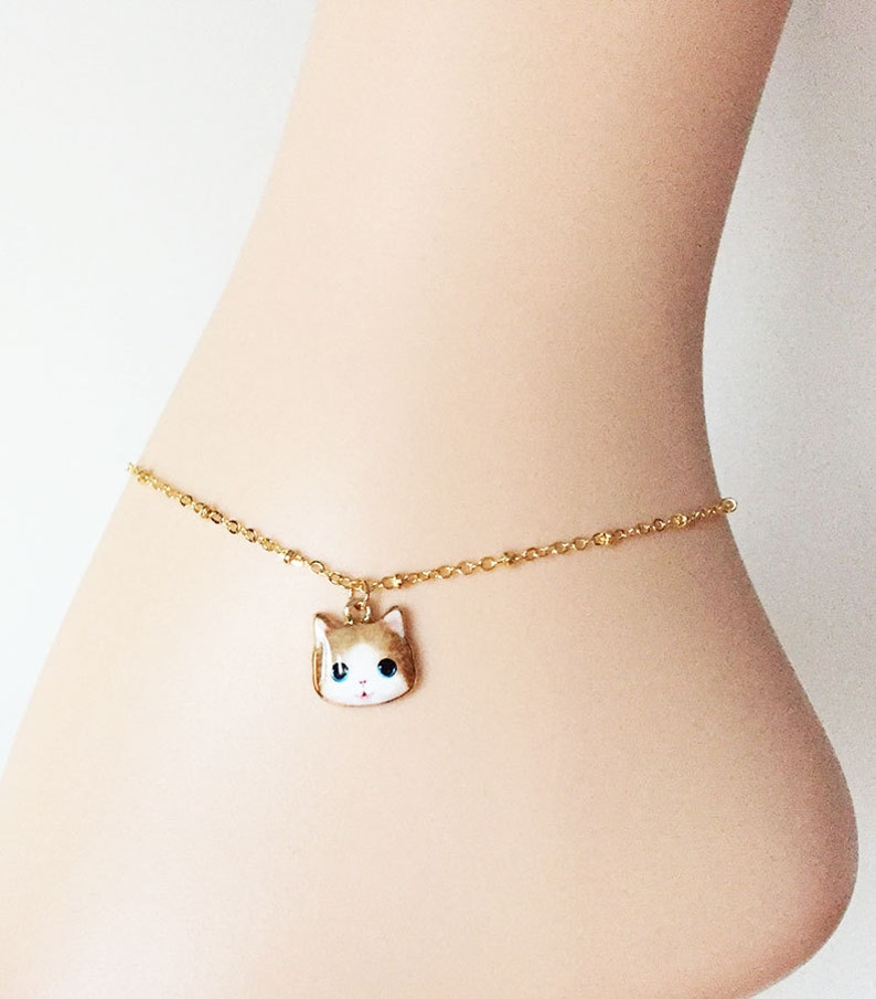 Anklet Ankle Bracelet Gold Plated Pendant Of Your Choice Fine Anklets Jewelry & Watches