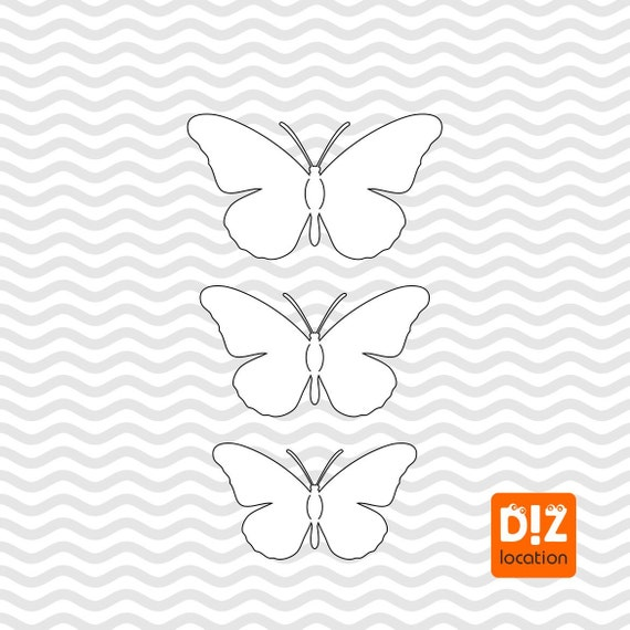 Wall Decoration 3D Beautiful Butterfly Template For Silhouette