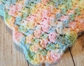 Multicolor Pastel Baby Afghan/Crochet Baby Afghan/Handmade Crochet Afghan/Baby Afghan/Baby Heirloom/Baby Shower Gift/Ready to Ship