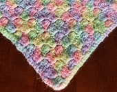 Multicolor Shimmer Baby Afghan/Crochet Baby Afghan/Handmade Crochet Afghan/Baby Afghan/Afghan/Baby Heirloom/Baby Shower Gift/Ready to Ship