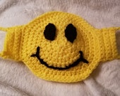 PATTERN Smile Have A Nice Day Crochet Face Mask