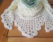 Romantic Vintage-style Lace Scarf Shawl Wrap Any Color
