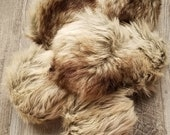 RICH FAUX FUR - Wolf Faux Fur Pom Pom - Faux Fur - Crochet Au Lait - Pom Poms - Ready to ship from U.S.