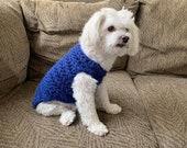 Custom Crochet Dog Sweater XS Extra Small, Crochet Dog Clothing, Crochet Dog Clothes, Crochet Puppy Sweater