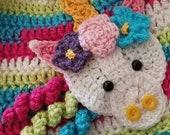 Unicorn APPLIQUE - Crochet Unicorn Applique - Unicorn - Affixes To Most Anything