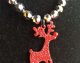 Rudolph The Rednosed Reindeer Necklace