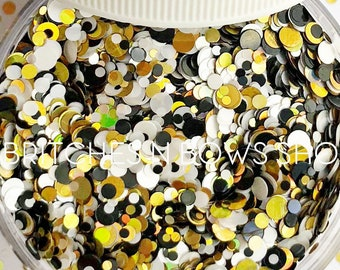 You Can Call Me Queen Bee || Confetti Dot Glitter Mix, 1oz Jar • Semi-OPAQUE •