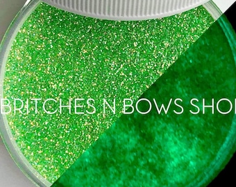 UFGlow [Green Glow] || Exclusive Premium Polyester Glitter, 1oz by Weight • TRANSPARENT • || .008 cut