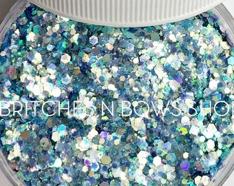 McDreamy    Premium Polyester Glitter, 1oz by Weight • TRANSPARENT •    up to .04 cut