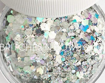 Shut the Front Door    Premium Polyester Glitter, 1oz by Weight • TRANSPARENT •    multi mix