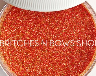 Orange You Glad I Didn't Say Banana    Premium Polyester Glitter, 1oz by Weight • Semi-OPAQUE •    .008 cut