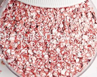 Little League Dots || Baseball Inspired Glitter Shape Design, 1oz Jar • OPAQUE • || 2mm
