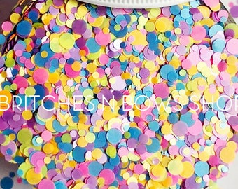 Sprinkle Kindness || Confetti Dot Glitter Mix, 1oz Jar • OPAQUE •