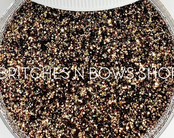 Acorns & Pine Cones    Exclusive Premium Polyester Glitter, 1oz by Weight • Semi-OPAQUE •    up to .015 cut
