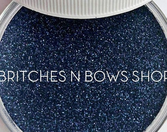 Midnight || Premium Polyester Glitter, 1oz by Weight • OPAQUE • || .004 cut