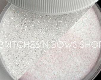 Moon Shine [White Glow] || Exclusive Premium Polyester Glitter, 1oz jar • TRANSPARENT • || .008 cut
