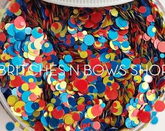 F•R•I•E•N•D•S (friends) || Exclusive Confetti Dot Glitter Mix, 1oz Jar • OPAQUE •
