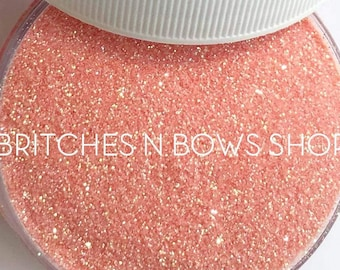 Candied Peach    Exclusive Premium *Cosmetic* Polyester Glitter, 1oz by Weight • Semi-OPAQUE •    .008 cut