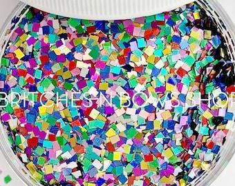 Times Square || Square Glitter Shape, 1oz Jar • OPAQUE •