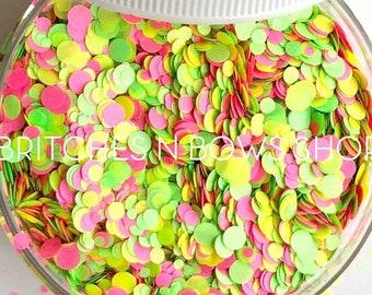 Strawberry Kiwi || Confetti Dot Glitter, 1oz Jar • OPAQUE •