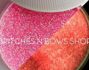 Lava Lamp  [Coral Glow] || Exclusive Premium Polyester Glitter, 1oz jar • TRANSPARENT • || .008 cut